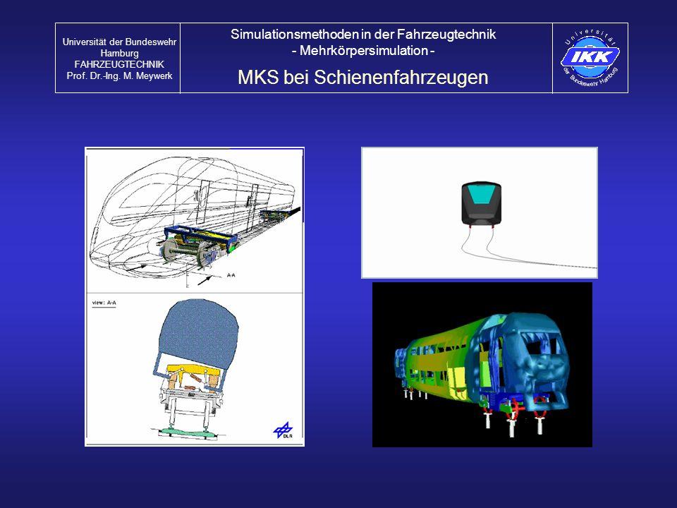 MKS bei Schienenfahrzeugen