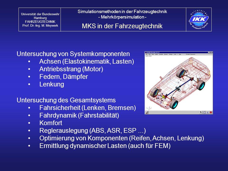 MKS in der Fahrzeugtechnik
