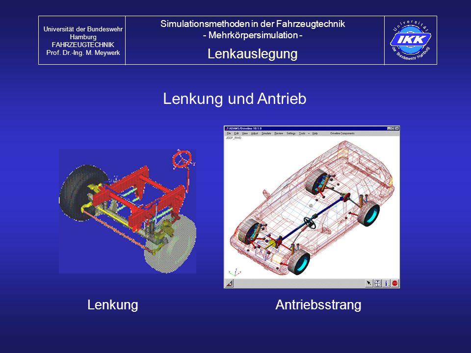 Lenkung und Antrieb Lenkauslegung Lenkung Antriebsstrang