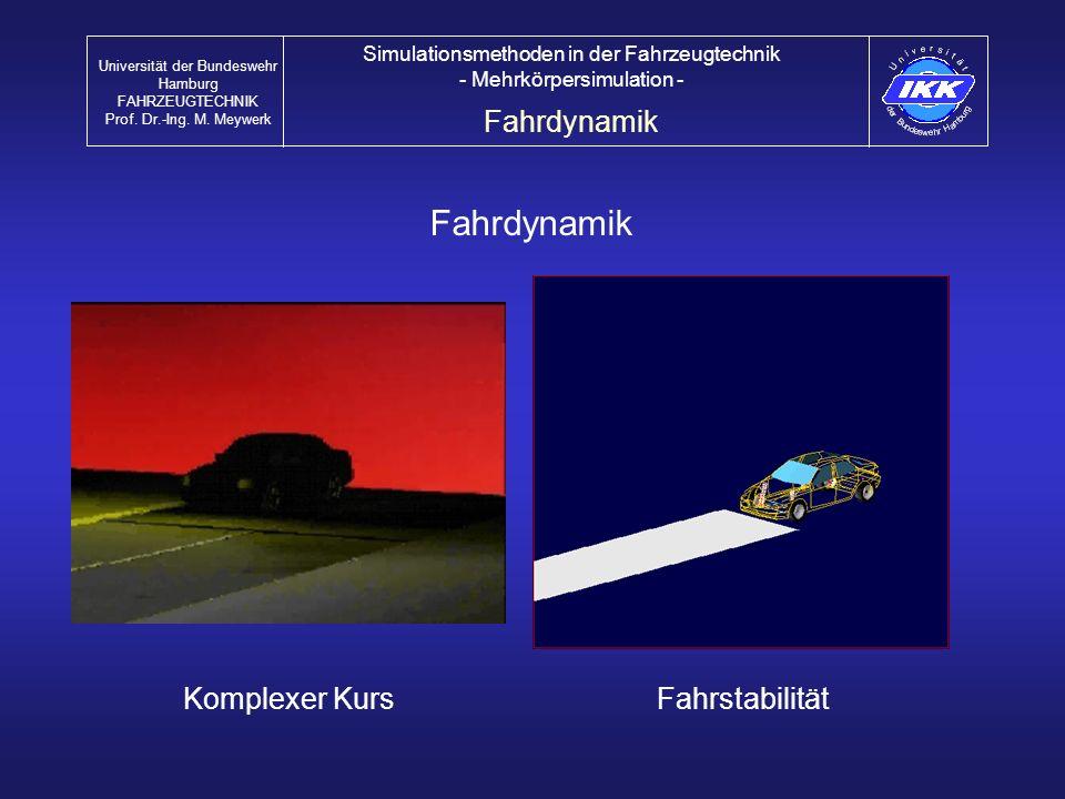 Fahrdynamik Fahrdynamik Komplexer Kurs Fahrstabilität