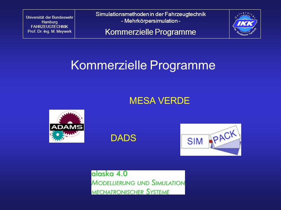 Kommerzielle Programme