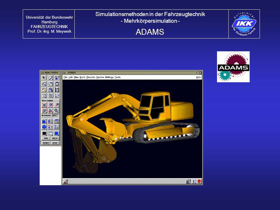 ADAMS Simulationsmethoden in der Fahrzeugtechnik