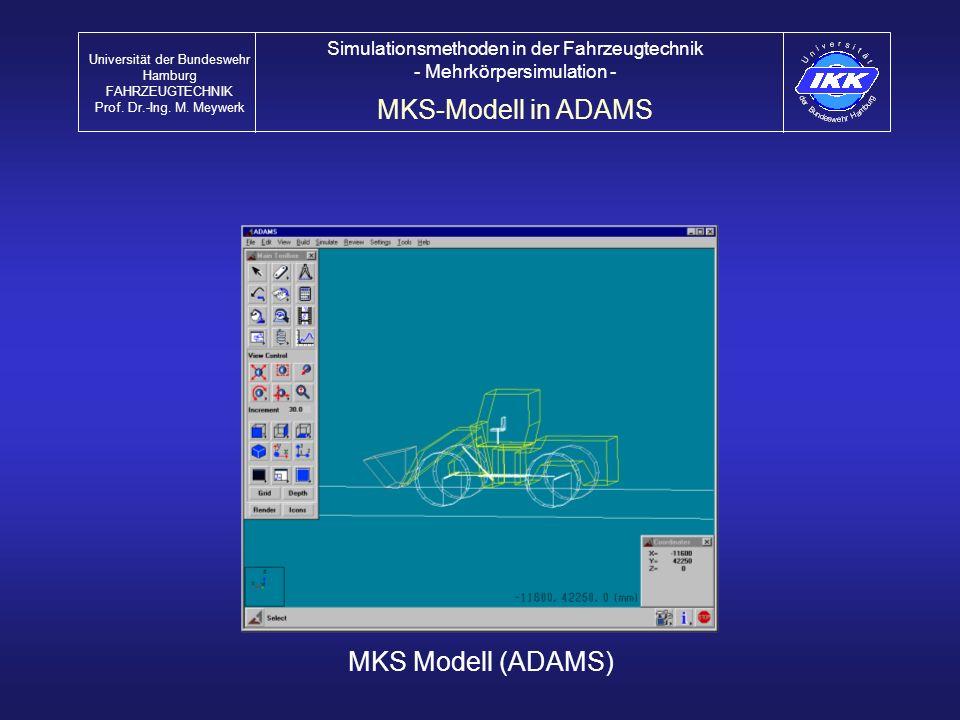 MKS-Modell in ADAMS MKS Modell (ADAMS)