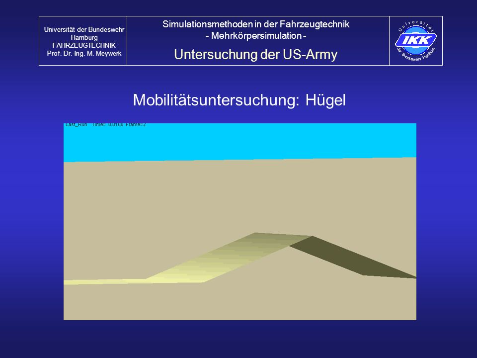 Mobilitätsuntersuchung: Hügel