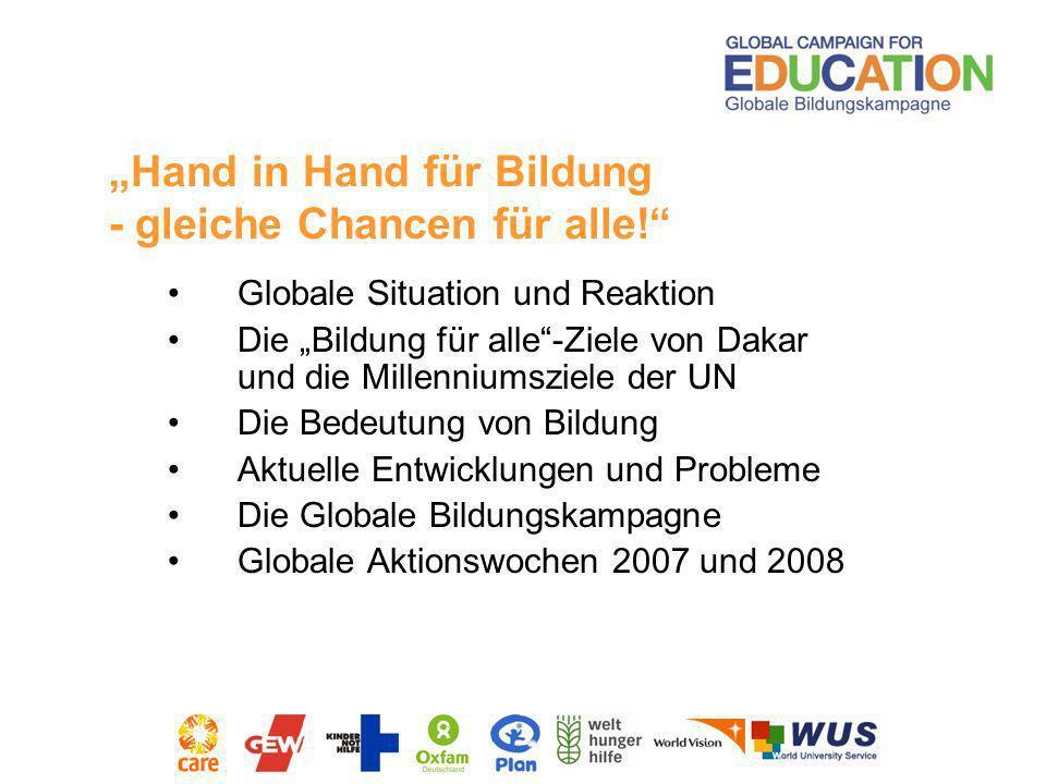 """""""Hand in Hand für Bildung - gleiche Chancen für alle!"""