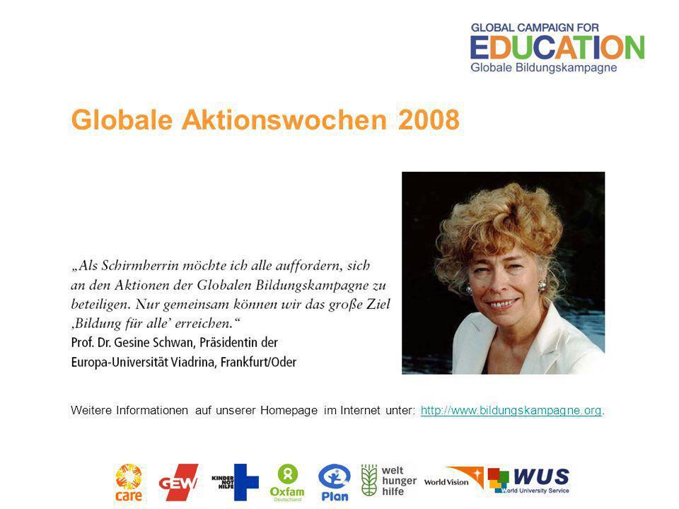 Globale Aktionswochen 2008