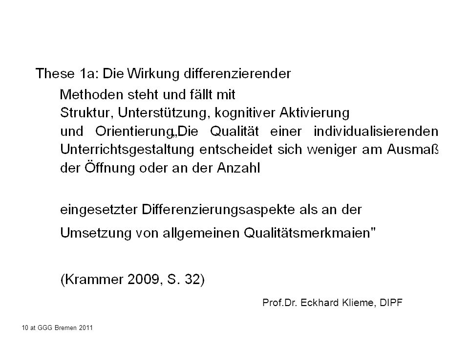 Prof.Dr. Eckhard Klieme, DIPF