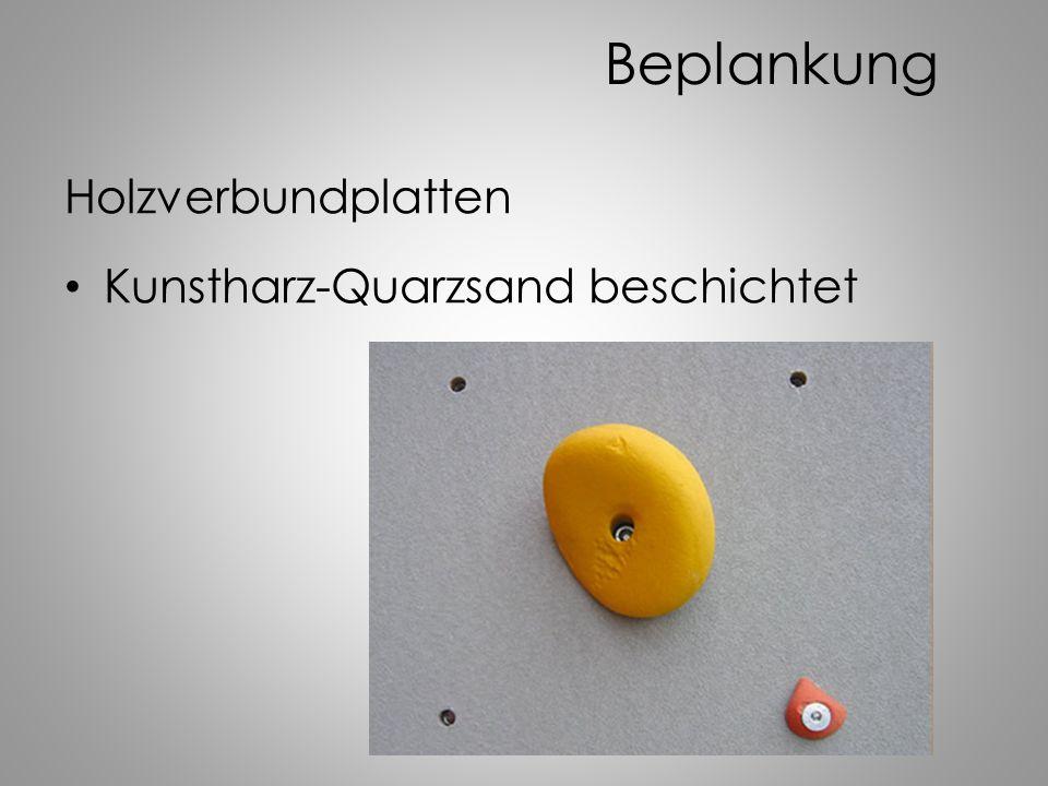 Beplankung Holzverbundplatten Kunstharz-Quarzsand beschichtet
