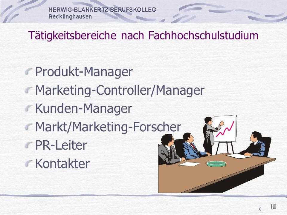 Tätigkeitsbereiche nach Fachhochschulstudium