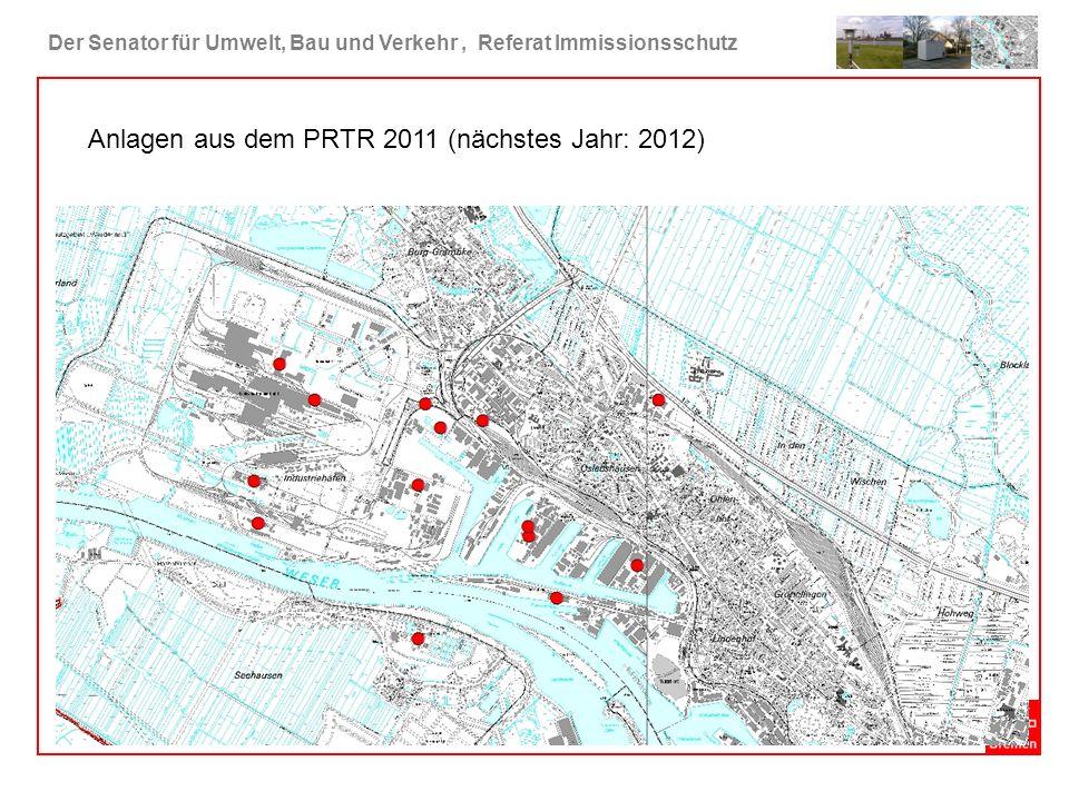 Anlagen aus dem PRTR 2011 (nächstes Jahr: 2012)