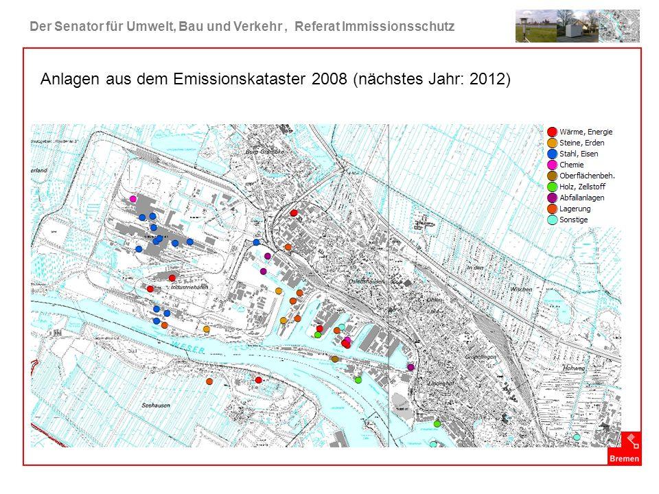 Anlagen aus dem Emissionskataster 2008 (nächstes Jahr: 2012)