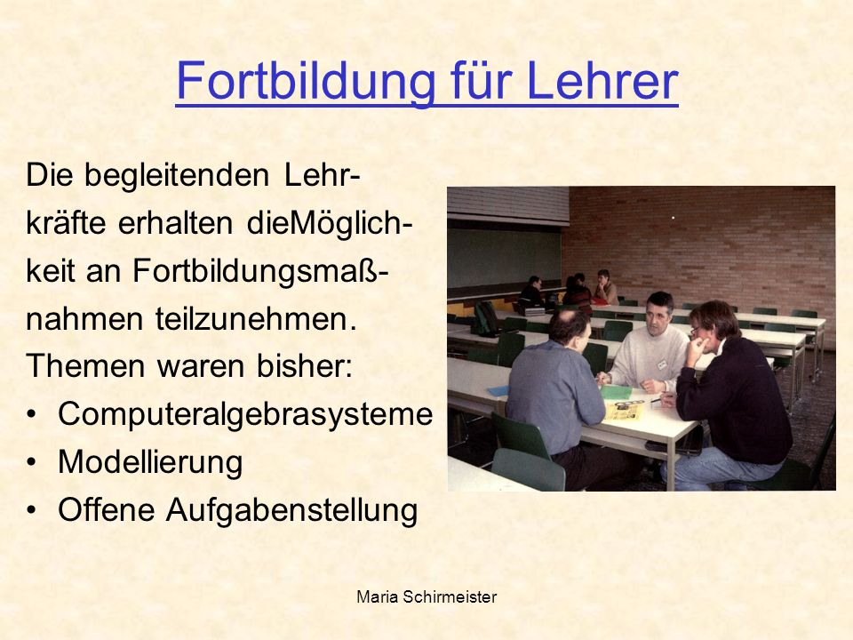 Fortbildung für Lehrer