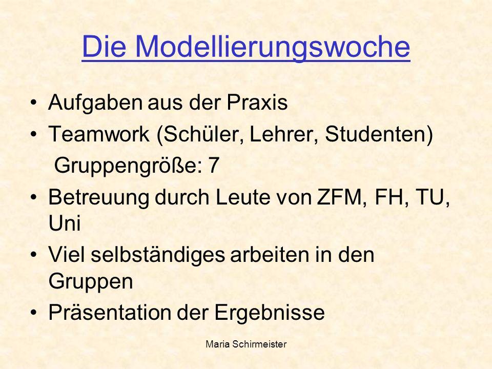 Die Modellierungswoche