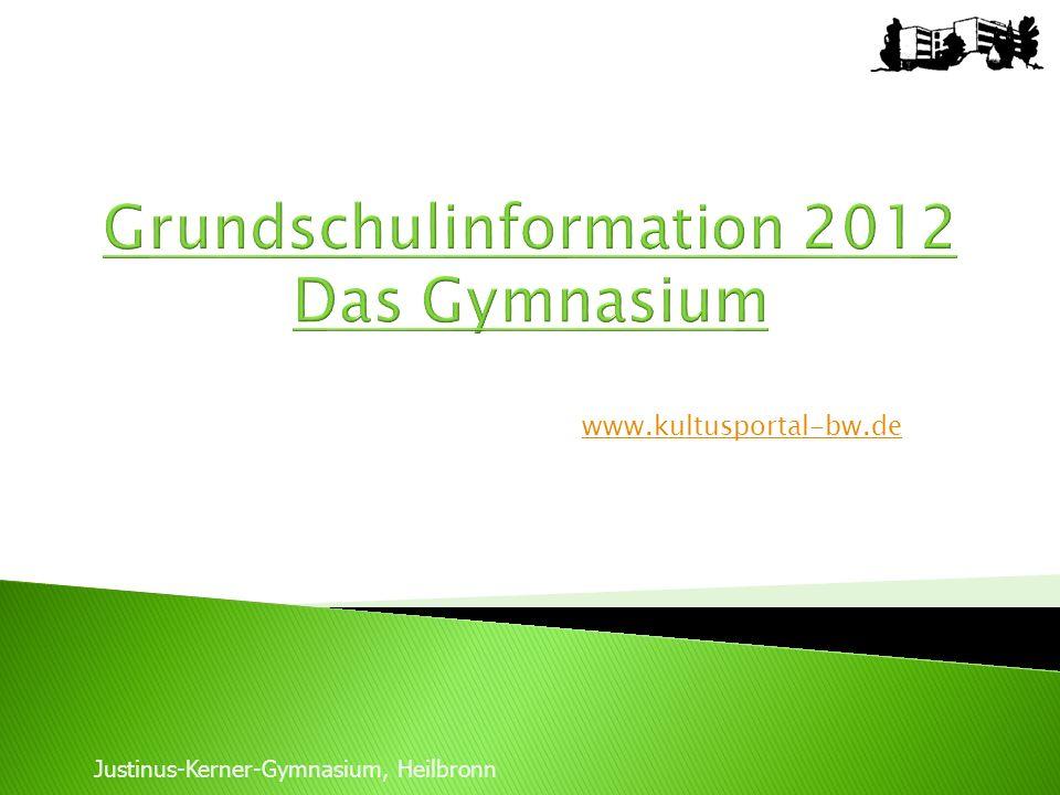 Grundschulinformation 2012 Das Gymnasium