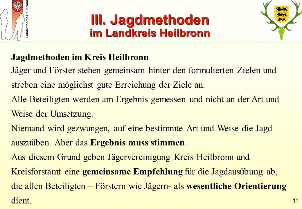 III. Jagdmethoden im Landkreis Heilbronn