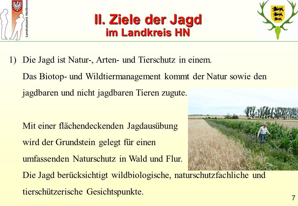 II. Ziele der Jagd im Landkreis HN