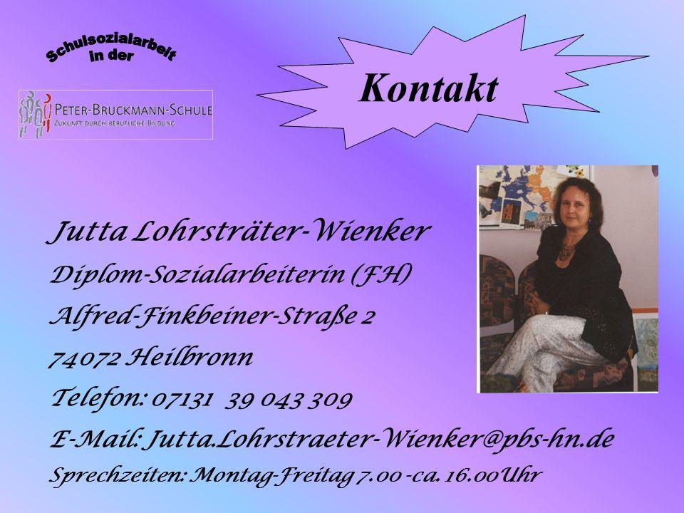 Kontakt Jutta Lohrsträter-Wienker Diplom-Sozialarbeiterin (FH)
