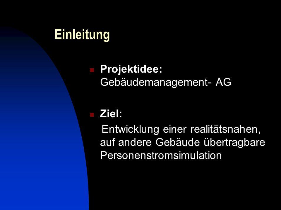 Einleitung Projektidee: Gebäudemanagement- AG Ziel: