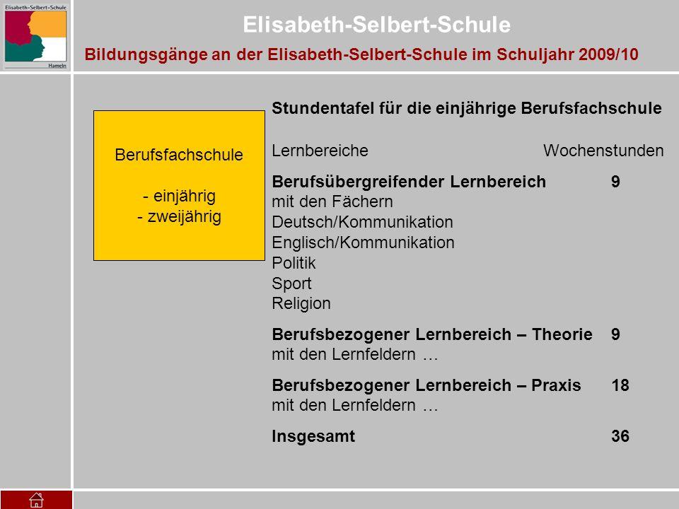 Bildungsgänge an der Elisabeth-Selbert-Schule im Schuljahr 2009/10