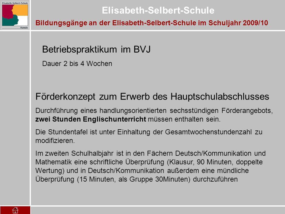 Betriebspraktikum im BVJ
