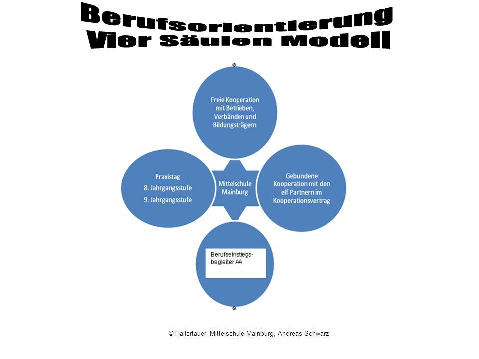 Berufsorientierung Vier Säulen Modell