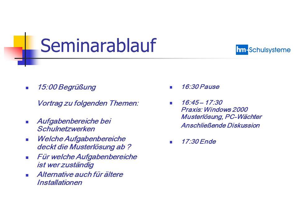 Seminarablauf 15:00 Begrüßung Vortrag zu folgenden Themen: