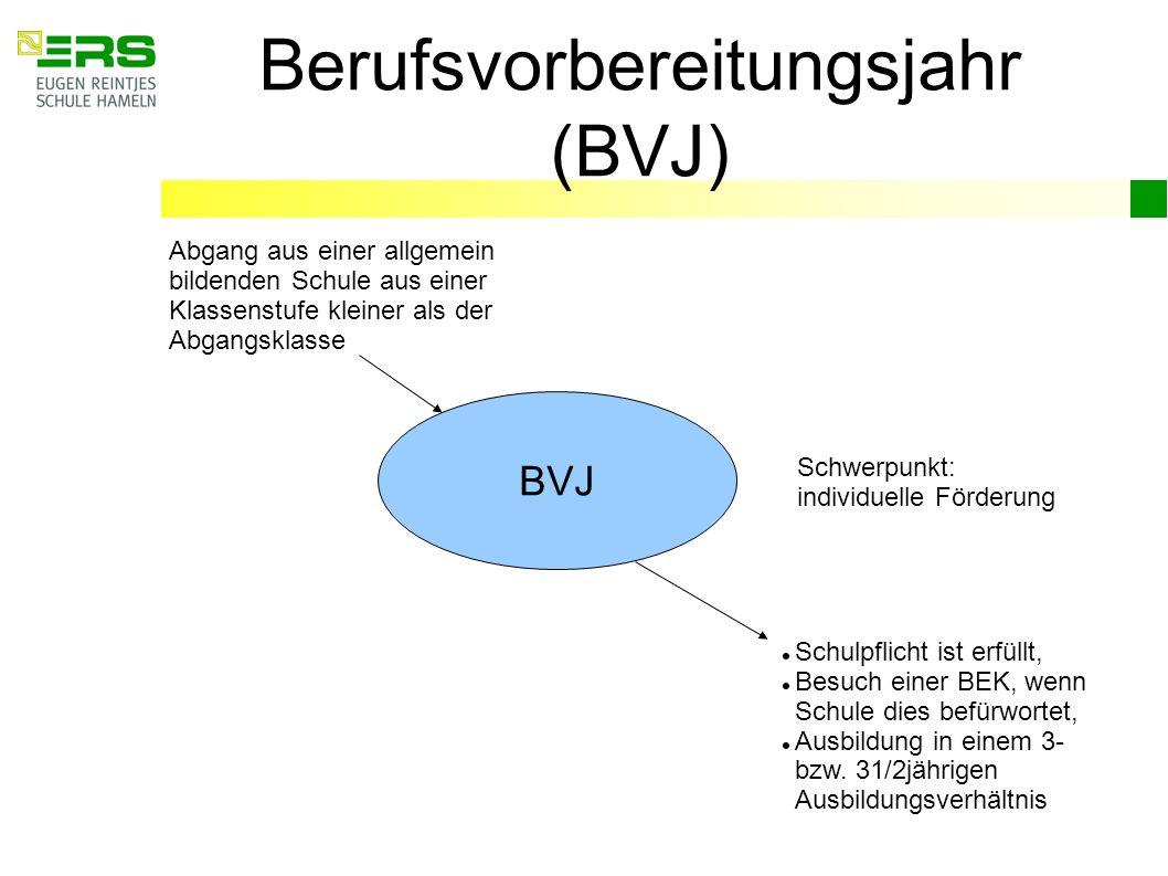 Berufsvorbereitungsjahr (BVJ)
