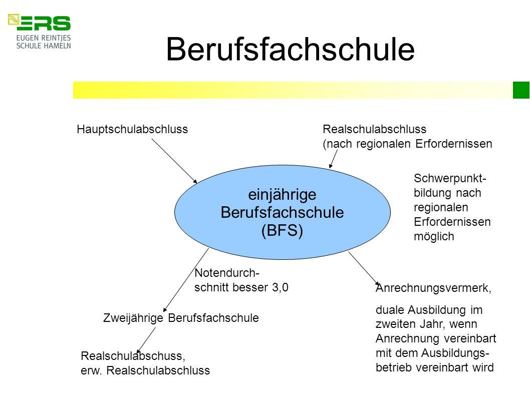 einjährige Berufsfachschule (BFS)
