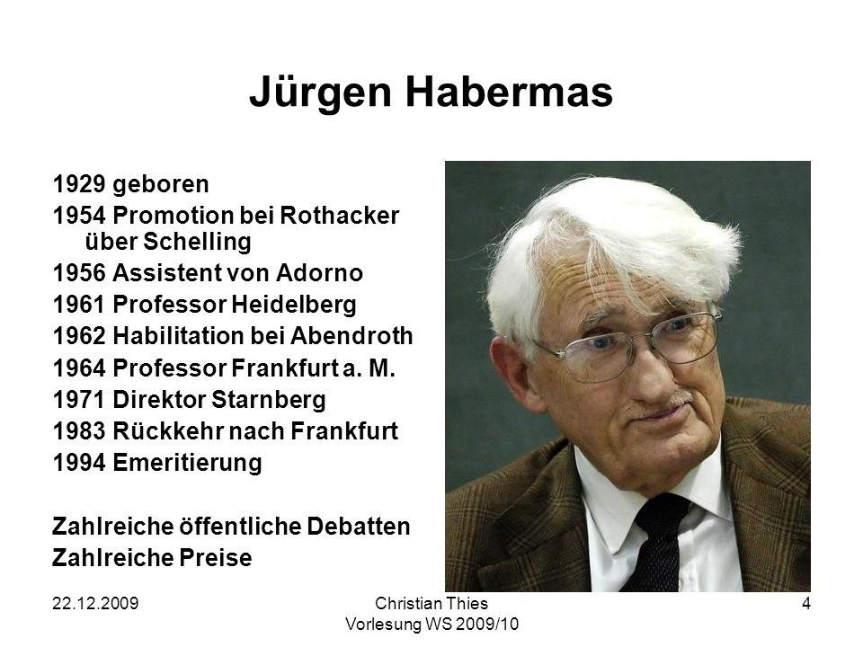 Jürgen Habermas 1929 geboren