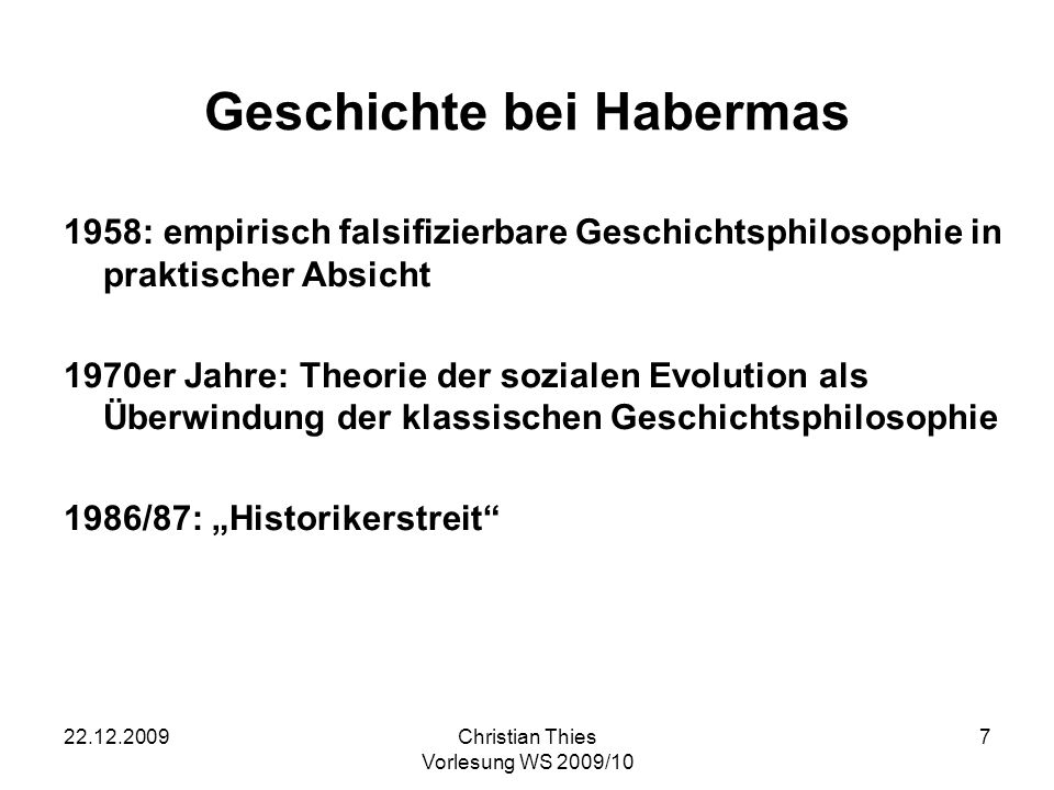 Geschichte bei Habermas