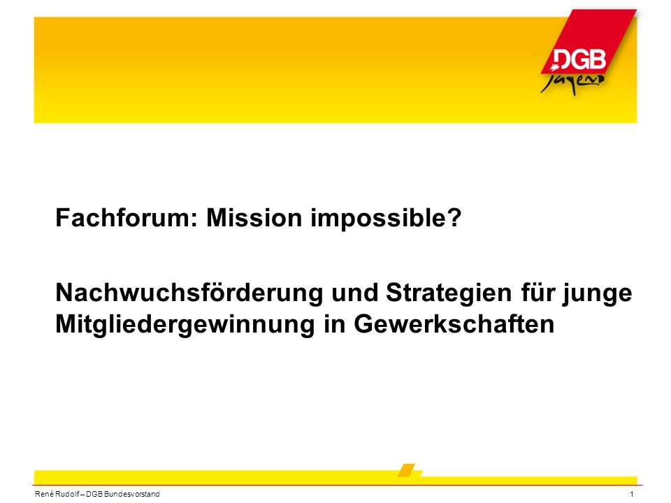 Fachforum: Mission impossible