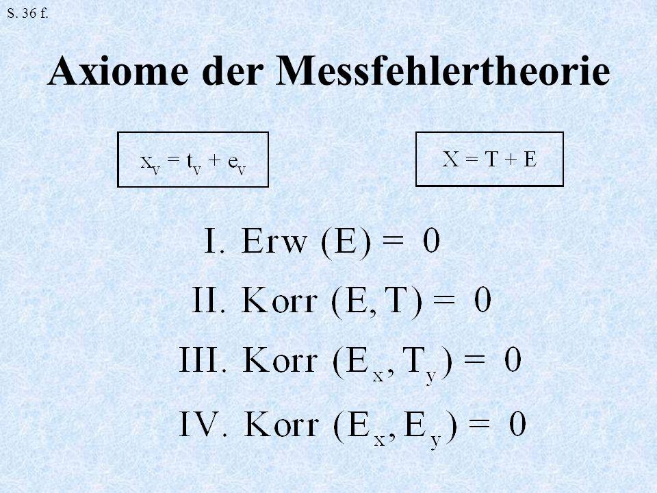 Axiome der Messfehlertheorie