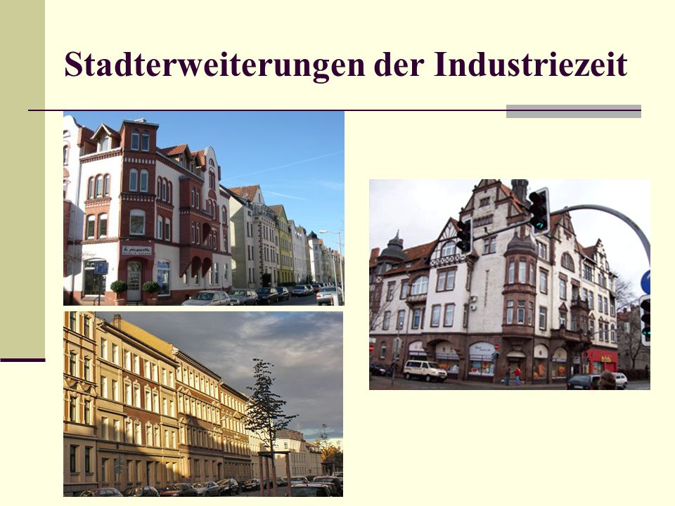 Stadterweiterungen der Industriezeit