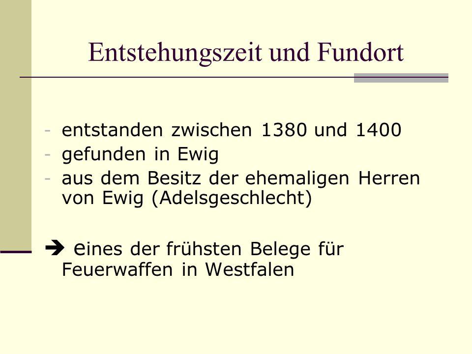 Entstehungszeit und Fundort