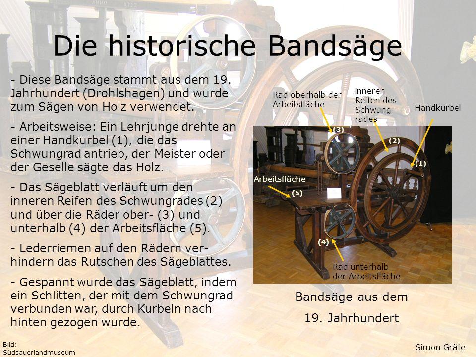 Die historische Bandsäge
