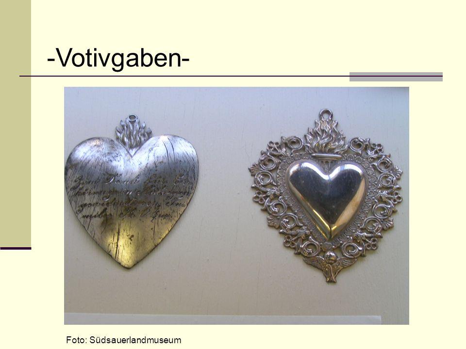 -Votivgaben- Foto: Südsauerlandmuseum