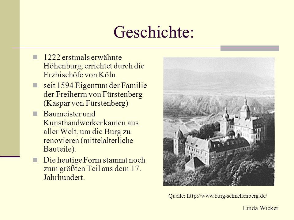Geschichte: 1222 erstmals erwähnte Höhenburg, errichtet durch die Erzbischöfe von Köln.