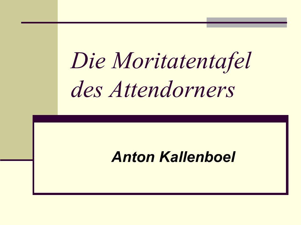 Die Moritatentafel des Attendorners
