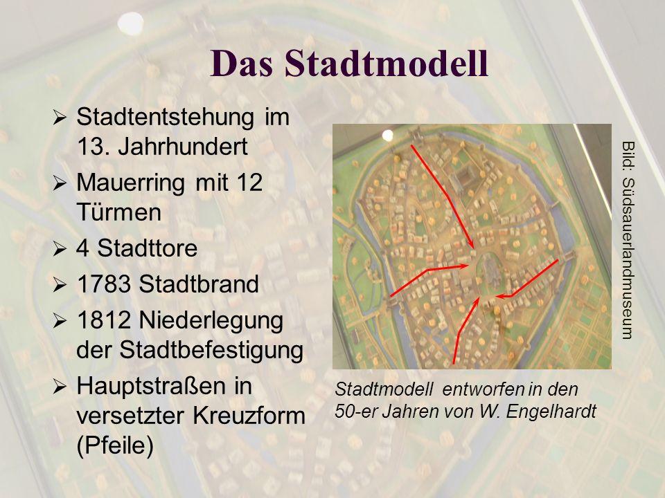 Das Stadtmodell Stadtentstehung im 13. Jahrhundert