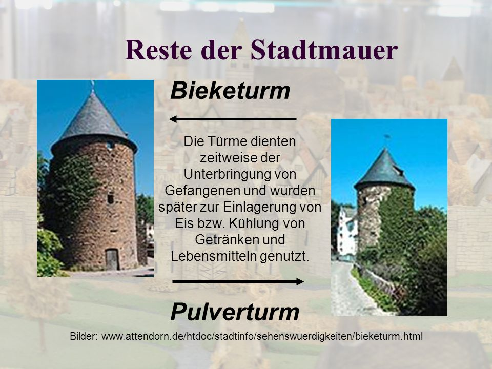 Reste der Stadtmauer Bieketurm Pulverturm