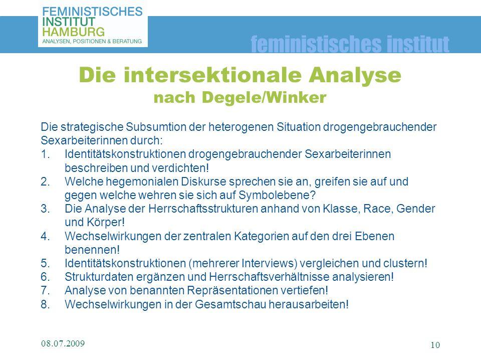Die intersektionale Analyse nach Degele/Winker