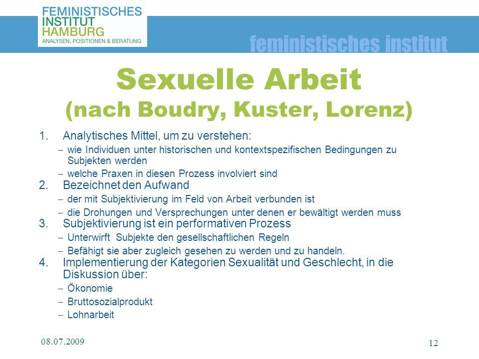 Sexuelle Arbeit (nach Boudry, Kuster, Lorenz)