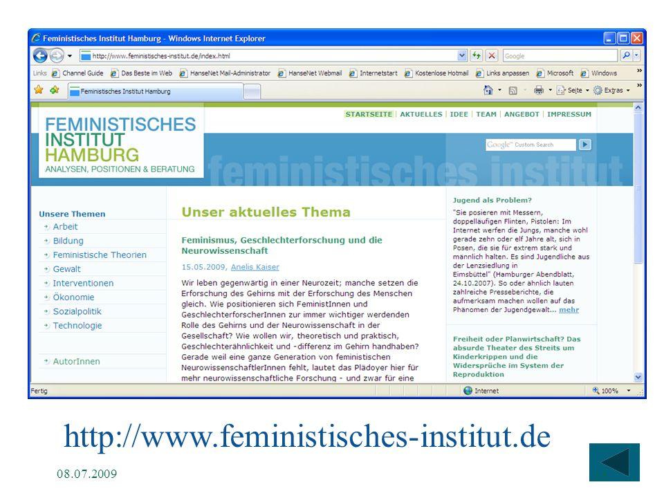 http://www.feministisches-institut.de 08.07.2009