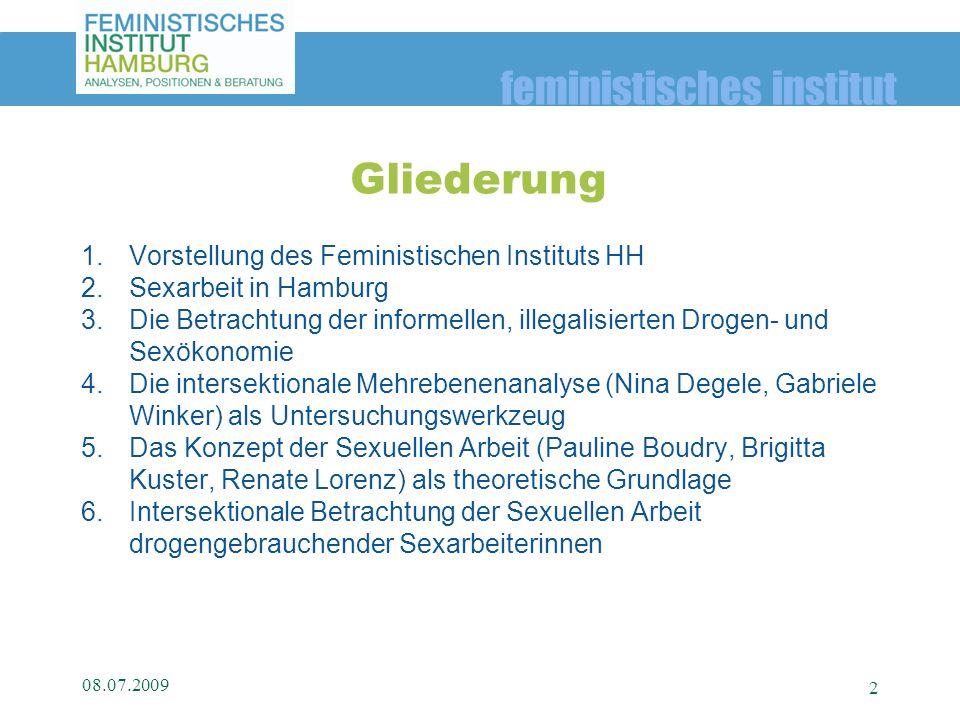 Gliederung Vorstellung des Feministischen Instituts HH