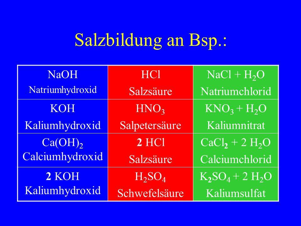Ca(OH)2 Calciumhydroxid