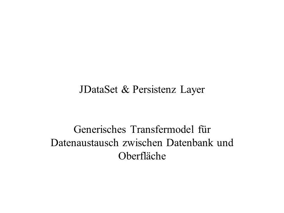 JDataSet & Persistenz Layer