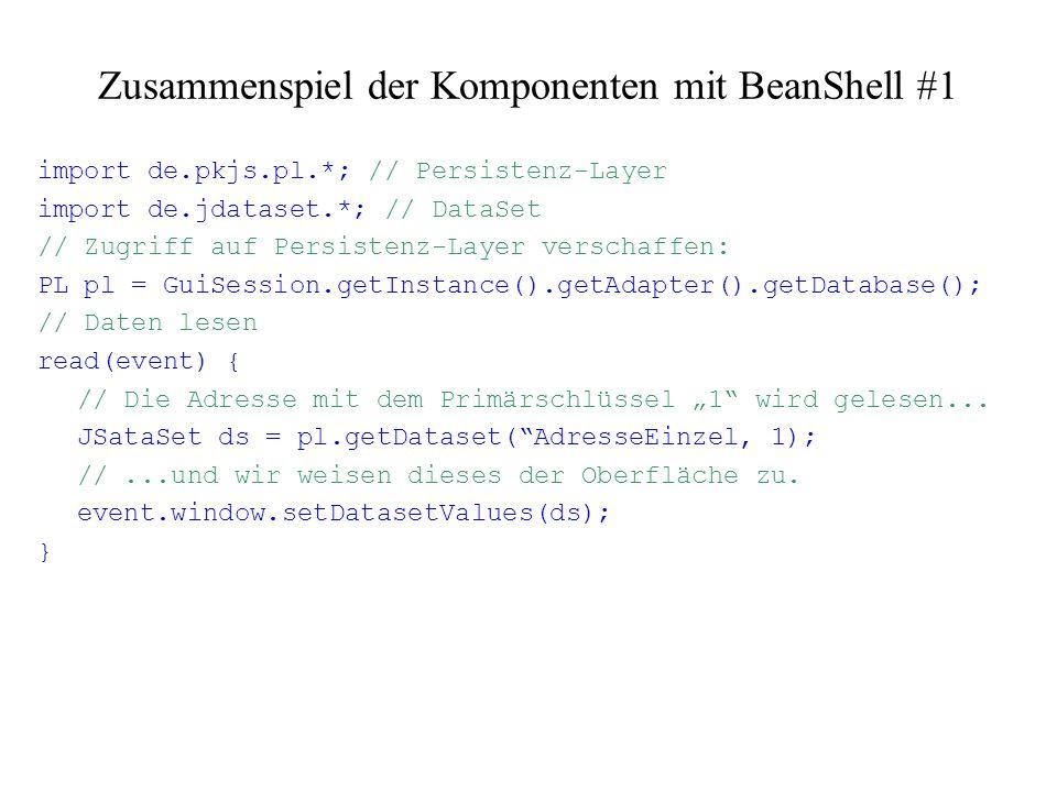 Zusammenspiel der Komponenten mit BeanShell #1