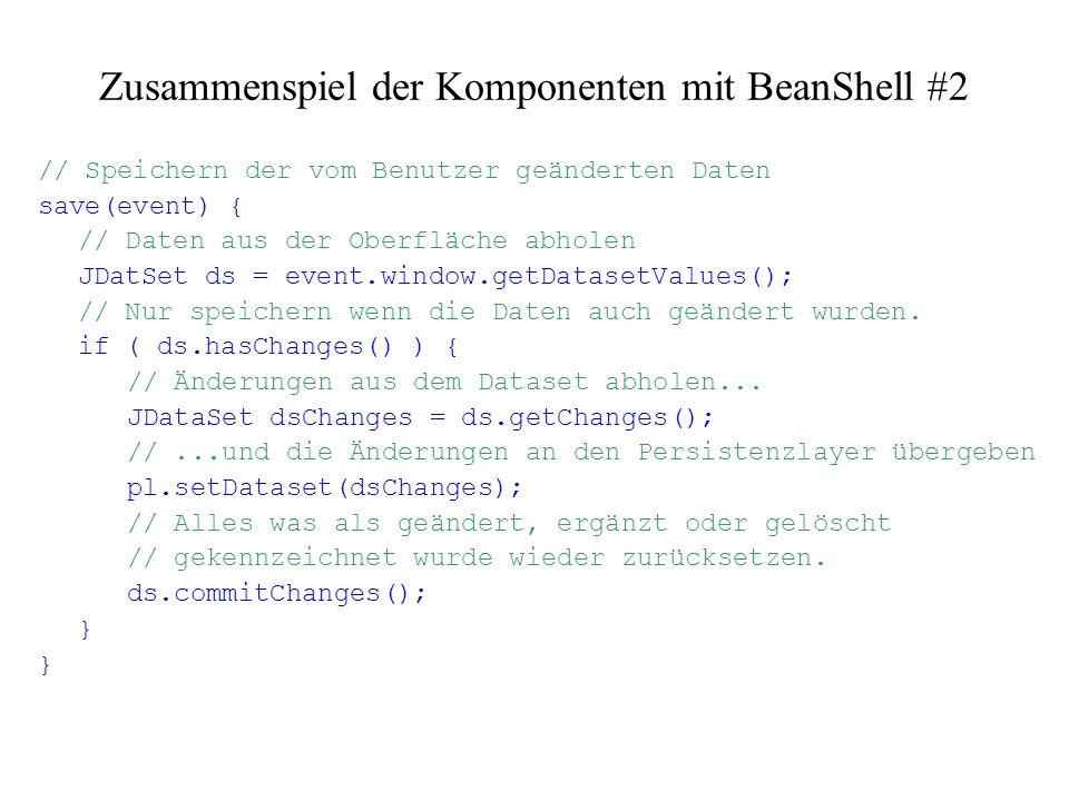 Zusammenspiel der Komponenten mit BeanShell #2