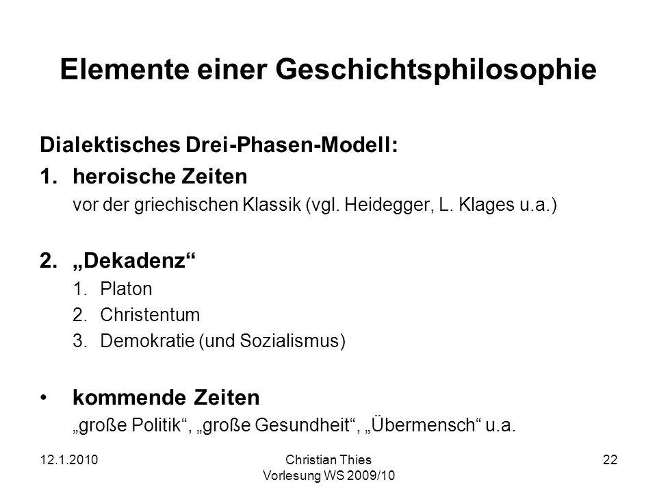 Elemente einer Geschichtsphilosophie