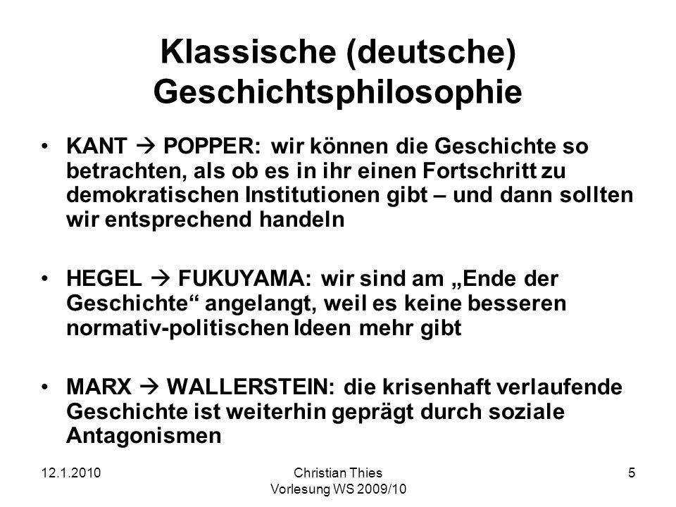 Klassische (deutsche) Geschichtsphilosophie